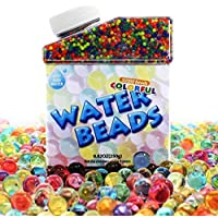 LAOZHOU Water Beads Orbeez Balls Gel Soil Water Beads 50,000 Colourful Clear Vase Filler for Home Decorations