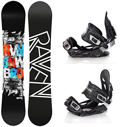 Snowboard Set: Snowboard Raven Explorer Gullwing + Bindung Raven s400 Black M/L