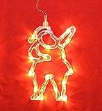 LED Fensterlicht Fensterbild Weihnachtsmann Weihnachtsdeko
