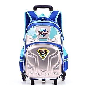 HFSK Bolsa De Equipaje para Niños, Trolley para Niños Cool Transformers 3D Optimus Prime, Mochila Impermeable para La Pérdida De Peso De Los Niños Desmontables 6 Rondas A