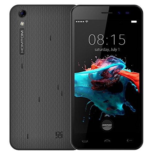 Homtom HT16 - Android 6.0 3G 5.0 pollici Smartphone MTK6580 Quad Core a 1,3 GHz 1 GB di RAM 8GB dual SIM 3000mA batteria - nero