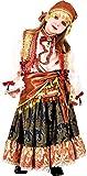 VENEZIANO Costume di Carnevale da ZINGARA Gitana Vestito per Ragazza Bambina 7-10 Anni Travestimento Halloween Cosplay Festa Party 8919 Taglia 8/M