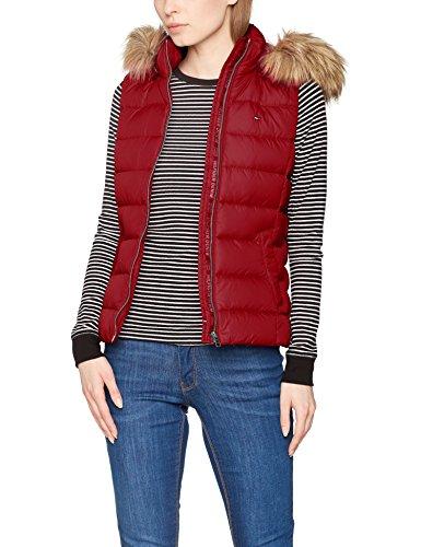 Hilfiger Denim Damen Outdoor Weste Thdw Basic Down Vest 1, Rot (Cabernet 238), XX-Small