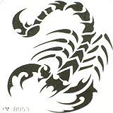 Wasserdichte Tattoo-Aufkleber schwarz Tier Skorpion