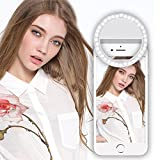 Pomisty 36 LED Selfie Ring Light, 3-Level Brightness Mini Selfie LED Camera Light Clip On Phones Flash light for iPhone,iPad,Sumsung Galaxy,Sony, Motorola,and All the Smart Phones and Tablets.