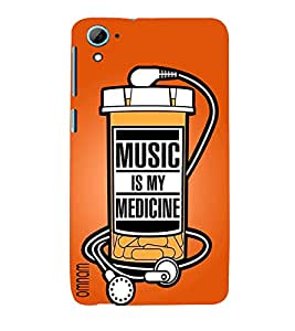 Omnam Music Is My Medicine Printed Bottle Back Cover Case For HTC Desire 826