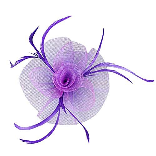 eder Fascinator Haarspangen Kopfstück Hochzeit Damen Fascinator - Lila ()