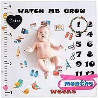 StillCool Mensual Mantas bebé Milestone hito Recién nacido regalo Fondo de Fotografía para Recién nacido y niños pequeños en crecimiento mamá & papá Recuerdo