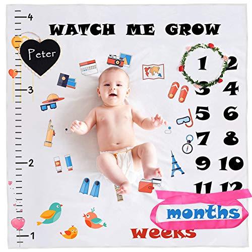 StillCool Mensual Mantas bebé Milestone