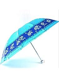 XG UV parapluies parapluie de soleil spécialement conçus pour augmenter le satin d'impression parapluie plié été ensoleillé essentiel