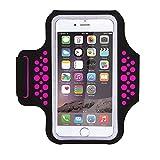 Wasserabweisend Sportarmband mit Schlüssel, Geld, Kreditkarte Halter für iPhone 7/7 Plus/6/6S Plus, Galaxy S8 S7 S6 Edge, oder Smartphones bis 14,5 cm