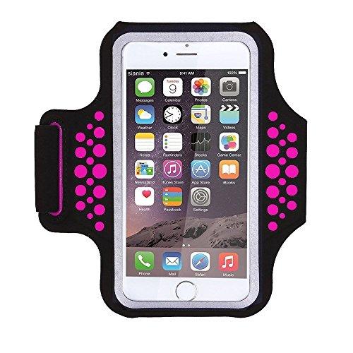 1617 EU Schweißfest Sportarmband Handy Laufen Sport Handytasche Handyhalterung Mit Schlüsselhalter/Kabelfach/Kartenhalter für iPhone XS/XR/X/8 Plus ,Galaxy S9/S8/S7 Plus Edge,Huawei P10 Mate Xiaomi