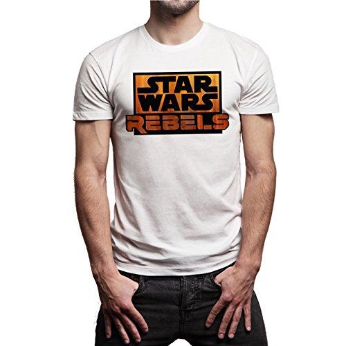 Star Wars Rebels Logo Herren T-Shirt Weiß