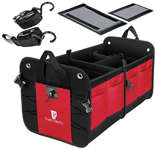 TrunkCratePro Zusammenklappbaren beweglichen Multi Compartments Trunk Organizer rot -