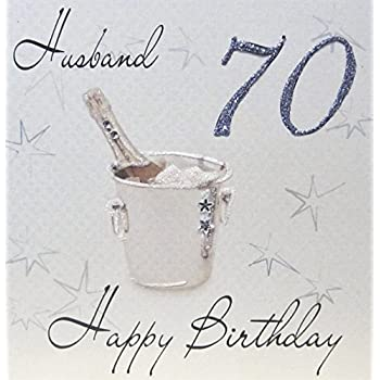 White cotton cards wbs70 h champagne bucket husband 70 happy white cotton cards wbs70 h champagne bucket husband 70 happy birthday handmade 70th birthday bookmarktalkfo Images