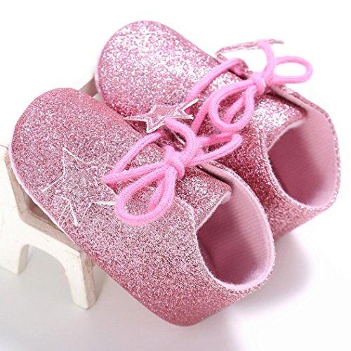 Baby schuhe Jamicy® Baby Säugling Kind Junge Mädchen Anti-Rutsch Sneaker Kleinkind Schuhe für 0-18 Monate (12~18 Monate, Rosa) Rosa