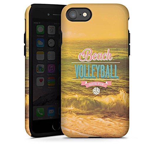 Apple iPhone X Silikon Hülle Case Schutzhülle Volleyball Strand Sommer Tough Case glänzend