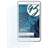 Bruni Schutzfolie für Samsung Galaxy Tab 4 7.0 (WI-Fi T230) Folie - 2 x glasklare Displayschutzfolie