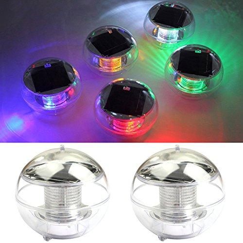 Solar Led Teichbeleuchtung schwimmkugel Beleuchtung farbwechsel, Wasserdicht aus ABS-Kunststoff