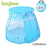 Baybee Ball Pit Play Tent -Pops up No Assembly Required - Use as a Ball Pit (Balls Not Included) or As an Indoor / Outdoor Play Tent, Comes with Convenient Carry Bag for Easy Travel and Storage ( Blue )