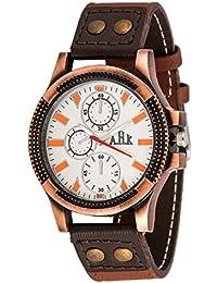AHK Men's Brown Strap White Dial Analog Watch (watch, Stylish Watch, Analog Watch, Designer Watch, Partywear Watch...