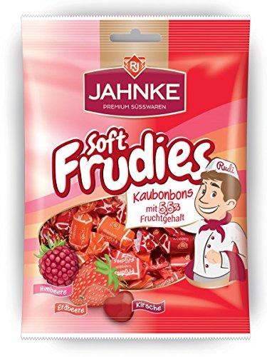 Jahnke Soft Frudies Himbeer/Erdbeer/Kirsche Kaubonbons 150 g (Erdbeer-saft-konzentrat)