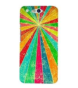 Fiobs Designer Back Case Cover for InFocus M812 (Lines Rays Rekha Asha Ummeed Patterns)