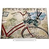 Reloj de escritorio Nostálgico antigua vieja bicicleta Decoración Retro