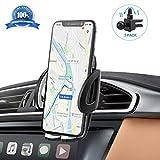 IZUKU Soporte Movil Coche Ventilación Universal 360 Grados Rotación Porta Movil Coche para Rejillas del Aire de Coche para iPhone x/8/7/6 Plus/6s/6/5s/SE, Android Smartphone y GPS Dispositivo …