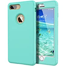 WE LOVE CASE iPhone 7 Plus iPhone 8 Plus Cover 3 in 1 Heavy Duty Armor Drop Proof Defender iPhone 7 Plus iPhone 8 Plus Custodia Case Rigida Elegant Backcover Hard con Plastica Bumper Belle Protettiva Protezione Duro Antiurto Ultraslim Coperture Girl Brillantini Donna Case per Apple iPhone 7 Plus 8 Plus 5,5 Menta Verde