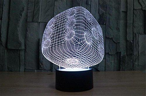 3D LED Optisch Verfärbung Illusion Lampen Nacht Licht, 7 Farben Berühren Kunst Beleuchtung mit USB Kabel chlafzimmer Schreibtisch Tabelle Dekoration Lampe zum...