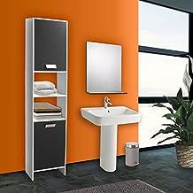 Meuble salle de bain gris - Amazon meuble salle de bain ...