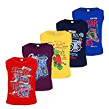 #9: Kiddeo kids boys sleeveless Tshirts (02) (pack of 5)
