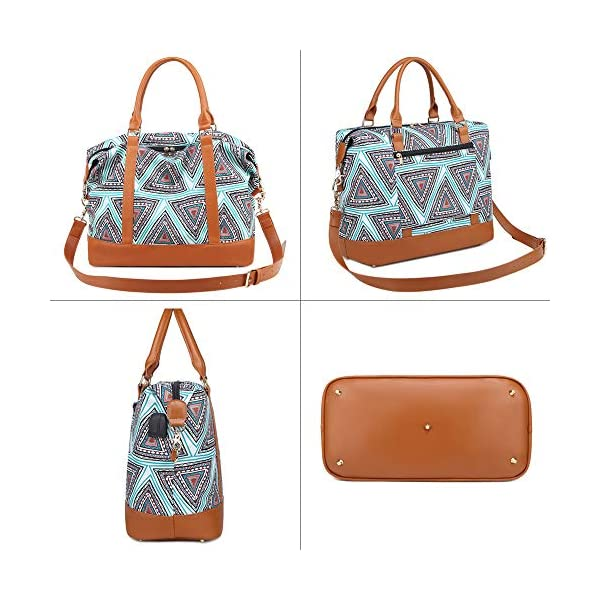 51ov7kuWmPL. SS600  - Bolso de Viaje Mujer de Mano Impermeable Bolso de Compras Grande Bolsa de Deporte Duffle Bag con Puerto USB para…
