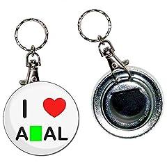 Idea Regalo - I Love Heart An*l - Button 55 millimetri Badge Bottle Opener portachiavi