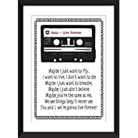 Oasis Live Forever Lyrics Print 11 x 14/8 x 10/5 x 7