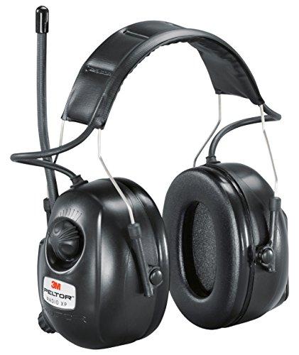 3M Kapselgehörschutz Radio XP, AM/FM, Kopfbügel, stereo, SNR 32 dB, MP3-Anschluss, 1 Stück, schwarz, HRXP7A01
