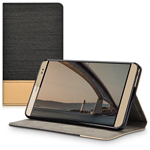kwmobile Elegante custodia in tela ecopelle per Huawei MediaPad X2