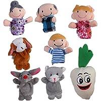 8pcs Juguete Marioneta de Mano Títeres de Dedos para Canción Infantil Cuento de Hadas