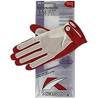 Kasco Tan Fit - Guante de Golf, Color Rojo, Talla L