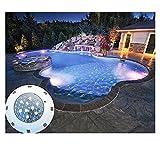 Sazuitou RGB Schwimmbadleuchten 54W LED Poolbeleuchtung Einhänge Unterwasser ersatz 280W Halogen Scheinwerfer DC/AC 12V with 1 x IR remote controller