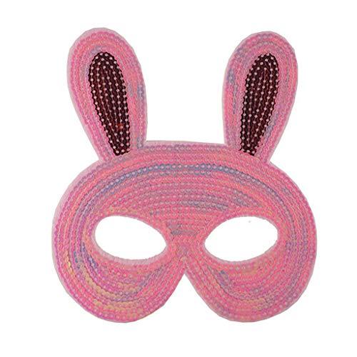 DingLong Halloween Maske für Mädchen Kinder, Tiermaske Cartoon Maske Halbe Gesichtsmaske, Kostüm Party Süß Niedlich Dress-Up, Schmetterling Hase Katzen Maske Karneval Verkleidung Maskenball Unfug (A) (Süße Katze Kostüm Für Jugendliche)