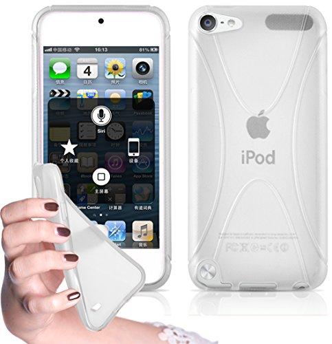 Preisvergleich Produktbild Cadorabo - TPU X-line Style Silikon Hülle passend für > Apple iPod Touch 5 < - Case Cover Schutzhülle Bumper in MAGNESIUM-WEIß