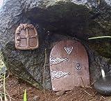 Carousel Toys Porte magique miniature pour fenêtre et porte pour fée et fenêtre pour plinthes, murs et Arbres