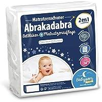 Babysom - Baby Matratzenschoner « 2 in 1 » - Spannbetttuch + wasserdichte Matratzenauflage - 100% Baumwolle - Luftdurchlässig