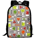 Science Fair Test Casual Laptop Backpack School Bag Shoulder Bag Travel ypack Handbag