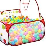 Fortan Pop up Hexagon Pois bambini tiro gioco palla Pool tenda Carry Tote giocattolo-120cm immagine