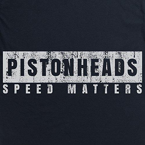PistonHeads Speed Matters Distressed T-Shirt, Herren Schwarz