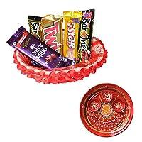 SFU E Com Holi Chocolate Basket Hamper   Holi Special Chocolate Gift   Premium Chocolate Hamper   Holi Pooja Thali   Pack of Chocolate Box-1   120