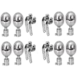 Smart Shophar Stainless Steel Curtain Bracket Rex 90 Silver Pack of 8 Pieces